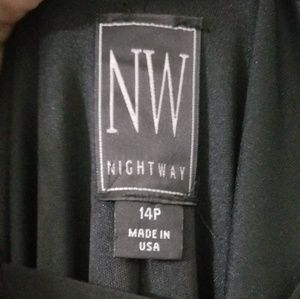 Night Way Collections Dresses - Black Floor Length Dress Cocktail Party Wedding